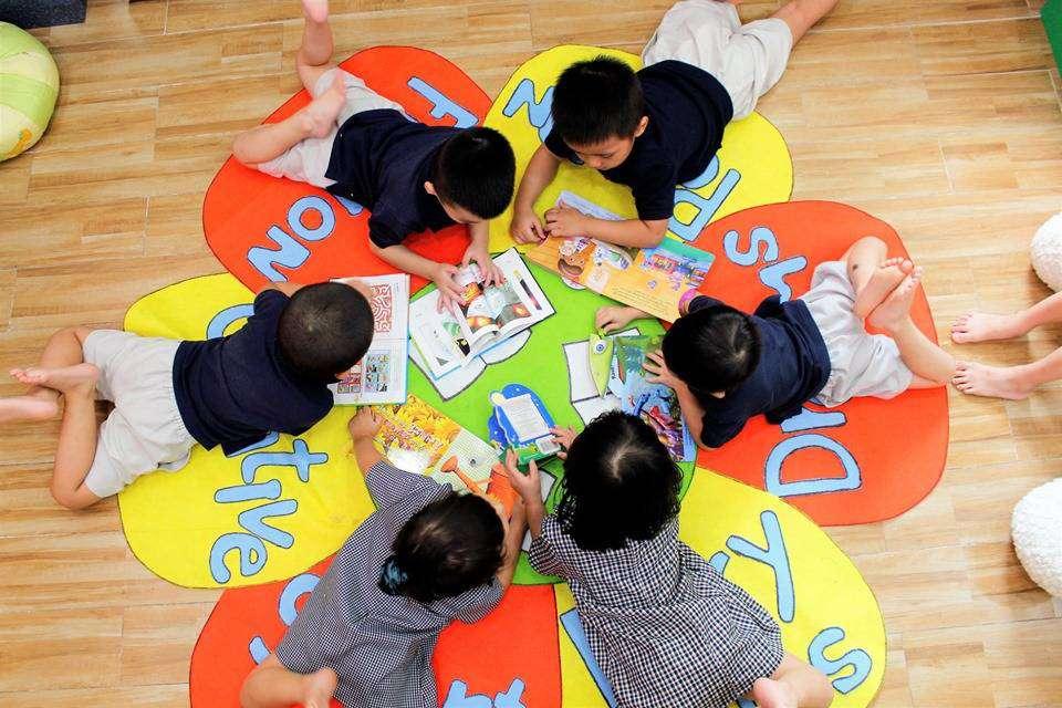 Trẻ sẽ được thụ hưởng không gian học tập thân thiện, an toàn