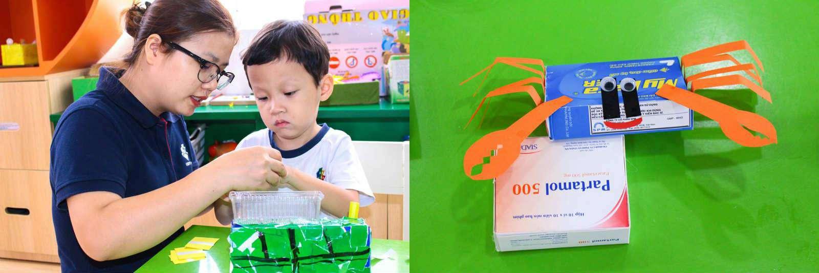 Trẻ Kindy City sáng tạp với những chiếc hộp
