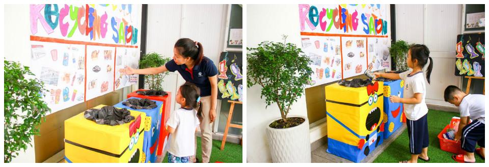 Trạm tái chế của KINDY CITY Nguyễn Duy Dương rất bắt mắt và dễ hiểu