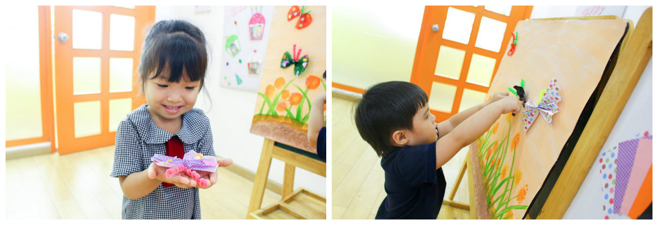 Trẻ tham gia hoạt động sáng tạo tại Kindy City