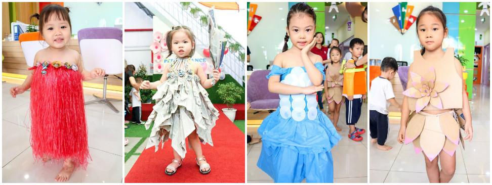 Học sinh Kindy City biểu diễn thời trang tái chế