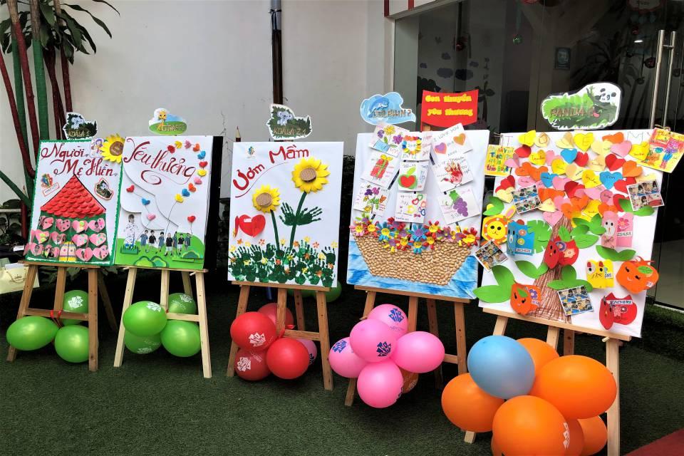 Trẻ tự tay tạo ra một số vật phẩm làm quà tặng