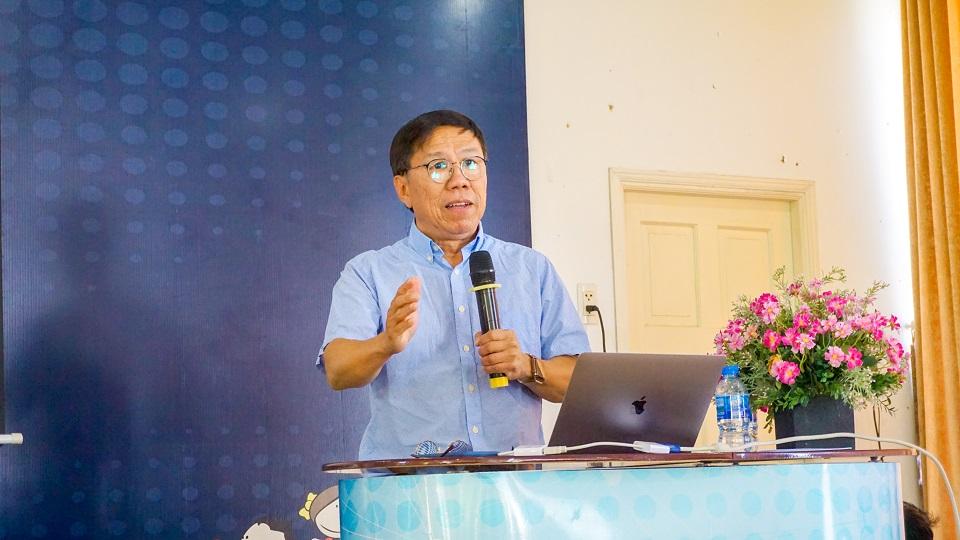 Tiến sĩ Thái Duy Bảo - đại diện lãnh đạo nhà trường