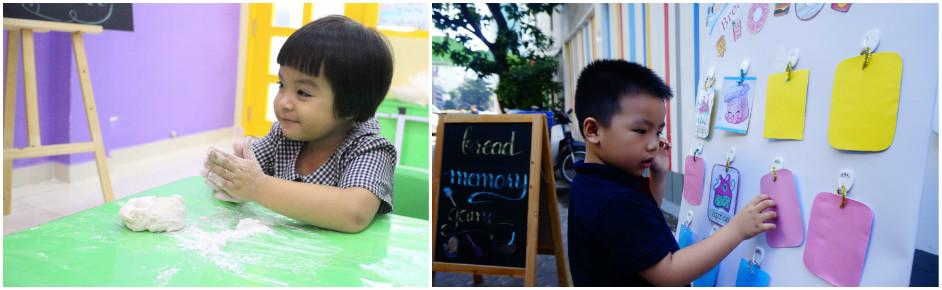 Trẻ nâng cao óc sáng tạo, và tinh thần kết nối, làm việc nhóm.