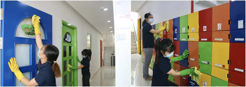Công việc sát khuẩn học cụ - không gian tại 12 cơ sở của Hệ thống đã được hoàn tất