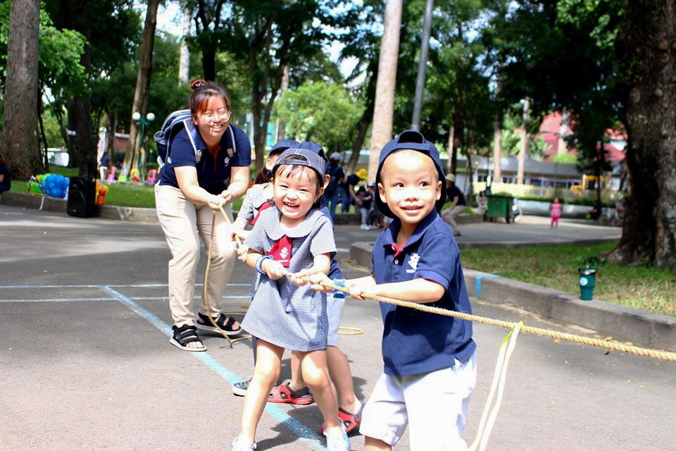 : Kindy Citizens participating in physical activities at the park