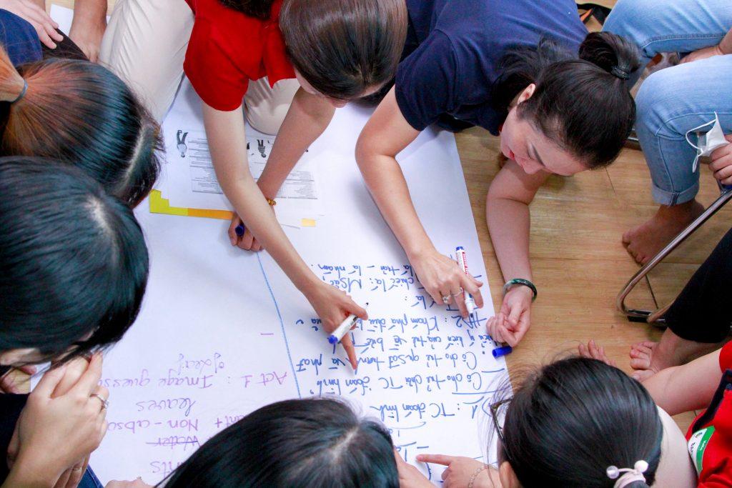 Phẩm chất chuyên nghiệp của người thầy KINDY CITY: Tôn trọng, trách nhiệm, học hỏi, hợp tác, chuyên tâm